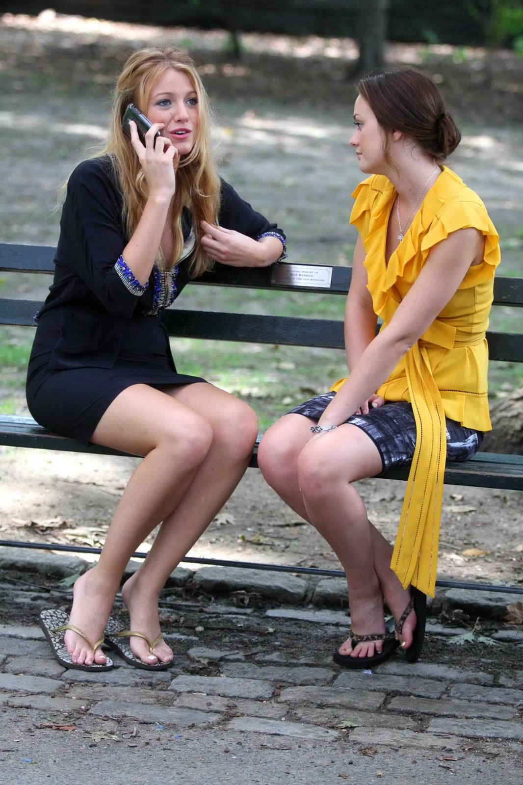Mole, Has self esteem issues with being tall for some reason.: http://hotcelebrityfeet.wordpress.com/category/blake-lively/